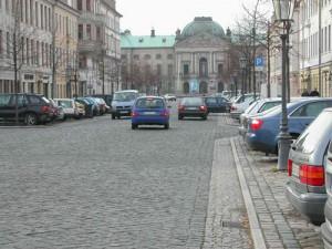 Königstraße mit Blick in Richtung Palaisplatz